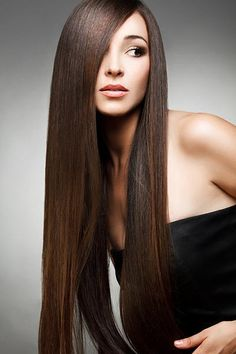 To straighten hair without heat, just mix a cup of water with 2 tablespoons of BROWN sugar, pour it into a spray bottle, then spray into damp hair and let air dry.
