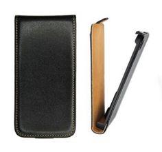 Nokia Lumia 830, Forcell lenyitható bőrtok, Slim Flip, felfelé nyíló - kinyitható, fekete