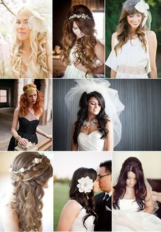 Long and flowing wedding hair