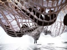Netted Hammock Installations : white project