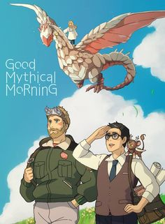 Good Mythical Morning as a Ghibli Film parody by: http://rosel-d.deviantart.com/