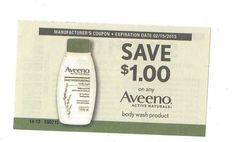 Aveeno Body Wash Product - 02/15/2015 - (10) - $1.00 on ONE (1)