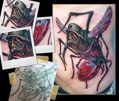 Tattoos - Scotty Munster - war mosquito tattoo