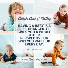 Having a baby is a life-changer. It gives you a whole other perspective on why you wake up everyday. Taylor Hanson, Baby Quotes, Having A Baby, Wake Up, Quote Of The Day, Perspective, Just For You, Life, Inspiration