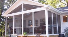Screened Porch And Deck With Azekbuilds Brownstone