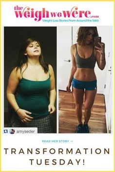 Transformation Tuesday from TheWeighWeWere.com! She��s great motivation for weightloss before and after results.