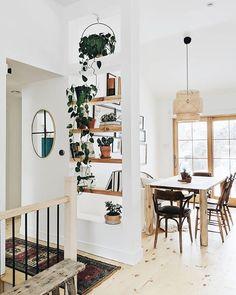 new stylish bohemian home decor and design ideas bohemian decor design hom Tall Shelves, Wood Shelves, Decoration Inspiration, Decor Ideas, Decorating Ideas, Room Ideas, Bohemian House, Modern Bohemian Decor, Bohemian Style