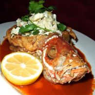 Whole Red Snapper stuffed with Crab Meat and Coocnut Rice - Mamajuana - Secaucus - New Jersey - Melody Kettle - Devil Gourmet - www.DevilGourmet.com