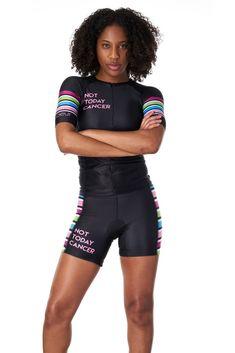 de6ab2e206 Not Today Cancer Women s Sleeved Triathlon Aero Top