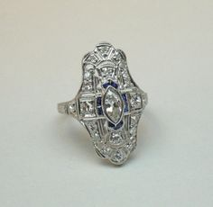 A Beautiful Art Deco Ring made of Platinum and by SummitJewelers