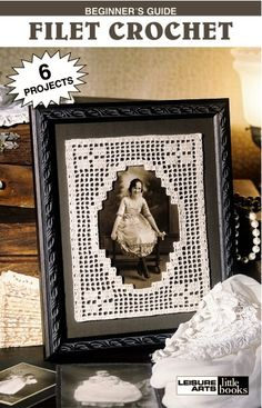Buy online beginners guide filet crochet patterns and ebooks. Return to the gentle graces of old-fashioned home decorating with filet crochet. Crochet Crafts, Crochet Doilies, Crochet Projects, Crochet Flowers, Doily Art, Doilies Crafts, Knitting Blogs, Frame Crafts, Album Design