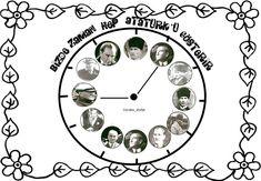 10 Kasım Atatürk'ü Anma Günü Art School, Interior Design Living Room, Modern Decor, Special Day, Diy Bedroom Decor, Projects To Try, Clock, Diy Crafts, Montessori
