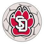 Ncaa University of South Dakota Cream (Ivory) 2 ft. 3 in. x 2 ft. 3 in. Round Accent Rug