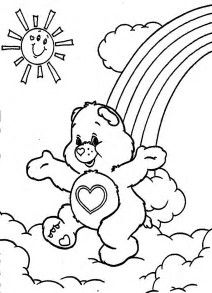 Care Bears Coloring 010 Crafty 80s Care Bears Coloring
