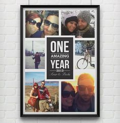 'One Amazing Year' Personalised Photo Print from notonthehighstreet.com
