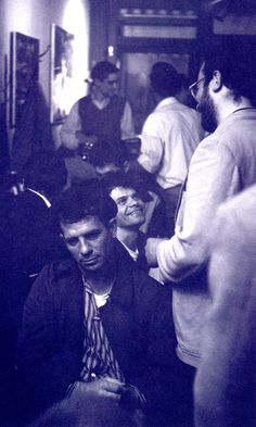 "JACK KEROUAC Beat writer of 'ON THE ROAD' 1957. ""Gregory Corso (behind Jack) may be having a good time at this 1959 party, but a despondent (& most probaly drunk) Kerouac is most definitely not"" from Jack Kerouac by David Sandison (1999) (please follow minkshmink on pinterest)"