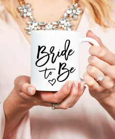 Bride to Be Mug, perfect engagement gift for your bestie!