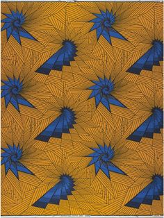 Lots of movement in this classic vlisco Dutch wax fabric. Pattern and design.
