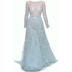 My images: Standard ❤ liked on Polyvore featuring dresses, gowns, long dresses, vestidos, blue, blue gown, blue evening gown, blue dress and blue ball gown