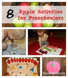 8 Apple Activities for Preschoolers - Pinned by @PediaStaff – Please Visit ht.ly/63sNtfor all our pediatric therapy pins