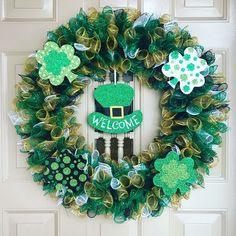 St Patrick S Day Wreath Xxl Door Wreath Floral Wreath