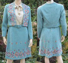 Vintage 60s 70s MOD dress jacket suit set by vintageartizania