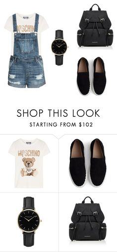 """black"" by maja-zmeskalova on Polyvore featuring Moschino, Chloé, ROSEFIELD and Burberry"
