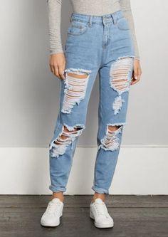2020 Women Jeans Wide Leg Cropped Jeans Khaki Pants Outfit Kids Jeans - 2020 Women Jeans Wide Leg Cropped Jeans Khaki Pants Outfit Kids Jeans – rosewew Source by - Khaki Pants Outfit, Ripped Jeans Outfit, Boyfriend Jeans Outfit Casual, Outfits With Mom Jeans, Light Blue Jeans Outfit, Light Blue Ripped Jeans, Jeans Boyfriend, Denim Outfit, Black Skinnies