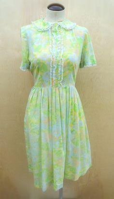 Lace Accent Collar Dress. via Etsy.