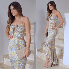 { dress @littbrasil } Estampa deusa com recorte lateral