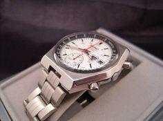 White dial chronograph
