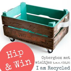 Iamrecycled Giveaway – Houten Opbergbox op Wieltjes €38,95 @I am Recycled