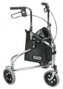 Rollator Winnie Deluxe 3 Wheel Steel Rolling Walker Chrome by Drive Medical. $113.30. Rollator Winnie Deluxe 3 Wheel Steel Rolling Walker comes with lightweight, solid 7.5 inch casters for indoor or outdoor performance. Oversized wire basket is also available with Winnie Loop Lock 3 Wheel Steel Rollator. Accessibility equipment comes with adjustable brakes and standard carry pouch. These mobility assistance products can be folded easily for transportation. This ...