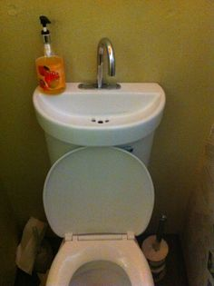 Eco Water Saving Toilet  When You Flush It Also Turns On The Tap For You To  Wash Your Hands, Which In Turn Fills Up The Cistern. The Tap Will Continue  To ...