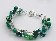 Twisted Wire and Bead Bracelet   AllFreeJewelryMaking.com