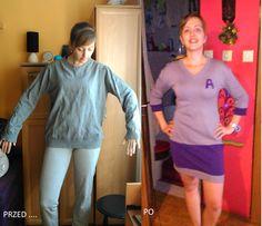 Przed i po, przeróbka starej bluzy