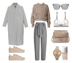 Grey and Camel by fashionlandscape on Polyvore featuring Mode, Joseph, Whistles, Eres, adidas, Chloé, Topshop, 3.1 Phillip Lim and Christian Dior