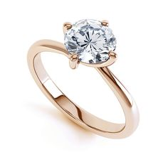 Twist engagement ring in rose gold