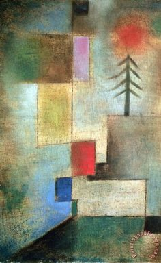 Kandinsky Painting - Small Picture Of Fir Trees, 1922 by Paul Klee Paul Klee Art, Oil Painting Reproductions, Wassily Kandinsky, Famous Artists, Oeuvre D'art, Les Oeuvres, Art History, Framed Art, Wall Art