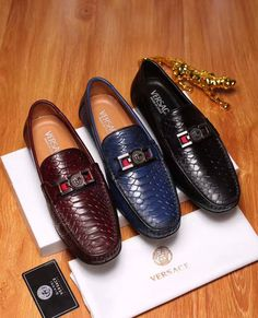 a76c74f4af6f Versace men s pebble leather slip-on driver shoes loafers gh items -  Powered by ECShop