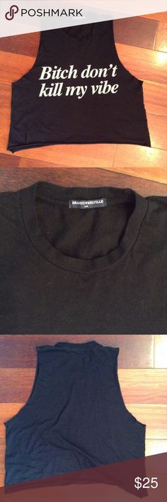 Brandy Melville top My daughter was never allowed to wear it. Brandy Melville Tops Tank Tops