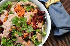 The Whole Life Nutrition Kitchen: Grated Beet & Carrot Salad with Radish-Miso Dressing