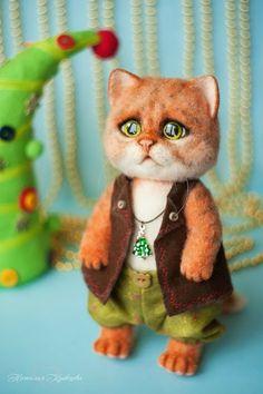 OOAK Timofey needle felted cat