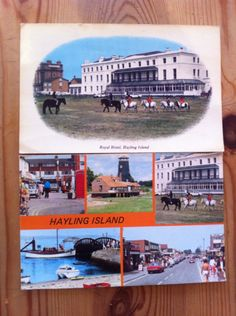 Old postcard I found on Hayling Island - looks like the but not sure. Hampshire Uk, Old Postcards, Beautiful Islands, Wonderful Places, Growing Up, Your Dog, Roots, England, Live