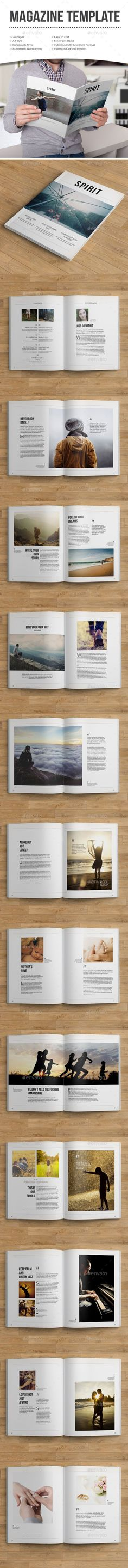 minimal magazine template — InDesign INDD #corporate #a4 • Available here → https://graphicriver.net/item/minimal-magazine-template/12336883?ref=pxcr