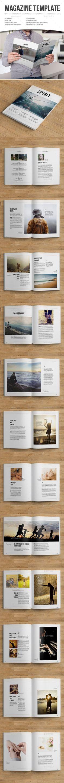 minimal magazine template - Magazines Print Templates