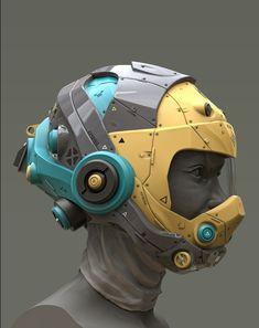 Helmet Concepts on Behance Futuristic Helmet, Futuristic Armour, Futuristic Design, Futuristic Architecture, Minimalist Architecture, Helmet Armor, Airsoft Helmet, Tactical Helmet, Helmet Design