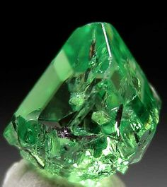 Tsavorite or tsavolite is a variety of the garnet group species grossular, a calcium-aluminium garnet with the formula Ca3Al2Si3O12.[3] Trace amounts of vanadium or chromium provide the green color.