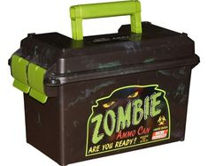The MTM Case-Gard Zombie Ammo Can - Limited Edition are a great way to store bulk or boxed ammo. Its all plastic design is lighter in weight than the 50 caliber US Military Surplus Ammo Can. Zombie Guns, Zombie Weapons, Ammo Storage, Ammo Cans, Plastic Design, Gift Exchange, Geocaching, Gag Gifts, Funny Gifts