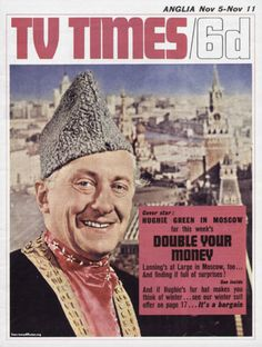 TVTimes Anglia November Double Your Money in Moscow Winter Suit, Tv Times, Hat Making, Magazine Covers, Moscow, Britain, Magazines, Theatre, Nostalgia